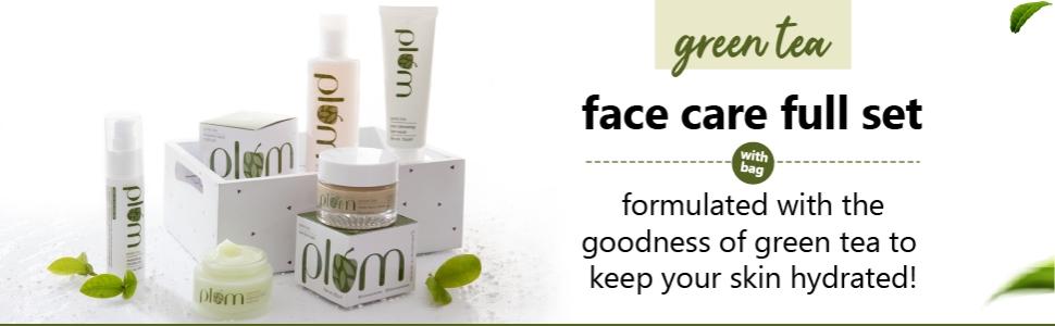 Plum Green Tea Face Care Set