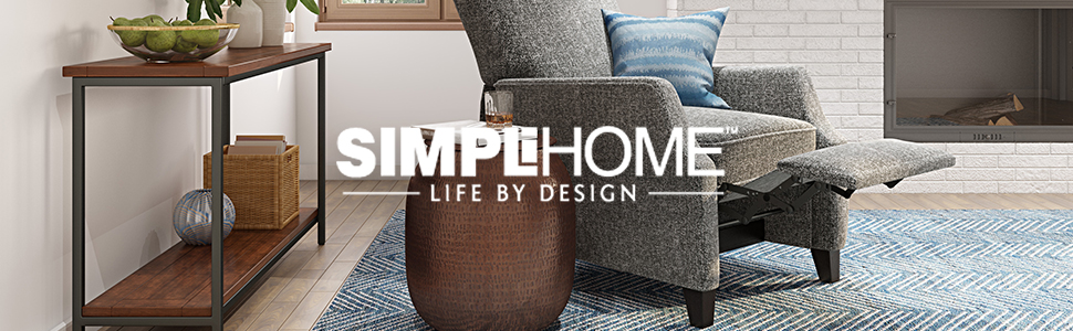 Amazon.com: Simpli Home Jenna mesa auxiliar redonda, color ...