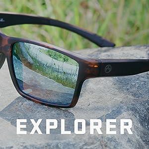 26dca2171b Amazon.com  Magpul Explorer Sunglasses Frame Bronze Lens with Blue ...