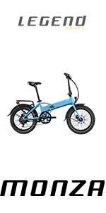 Legend eBikes Bicicleta Eléctrica Plegable Compacta con Rueda de 20 Pulgadas, Batería 36V 8Ah (288Wh), Azul Steel: Amazon.es: Deportes y aire libre
