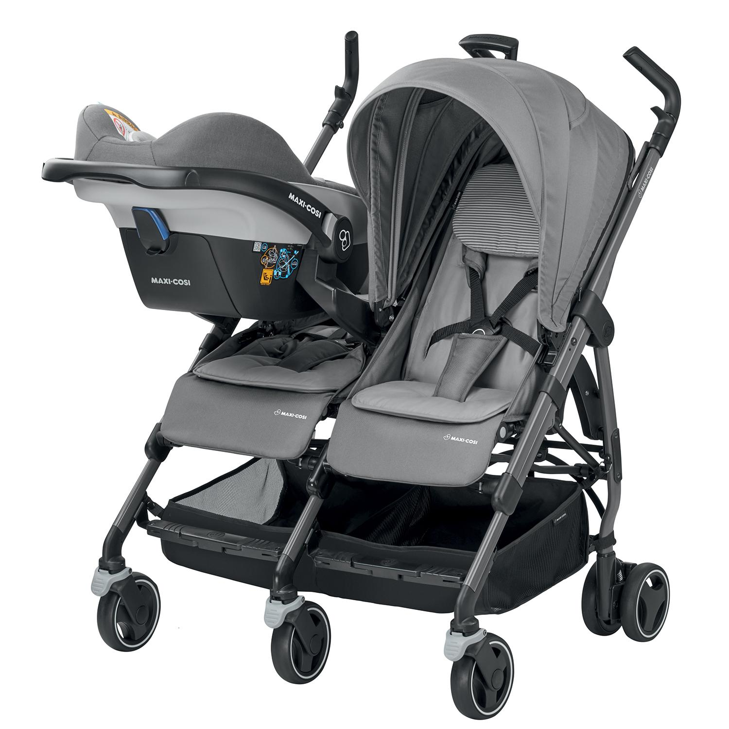 maxi cosi dana stroller for two concrete grey. Black Bedroom Furniture Sets. Home Design Ideas