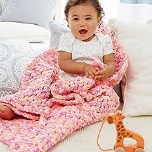 bernat baby blanket yarn knit craft crochet soft bulky