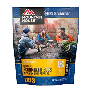 Mountain House scrambled eggs with ham and peppers pouch product image