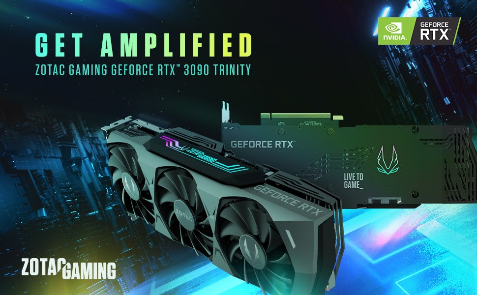 ZOTAC GAMING GeForce RTX 3090 Trinity Graphics Card ZT-A30900D-10P NVIDIA Ampere