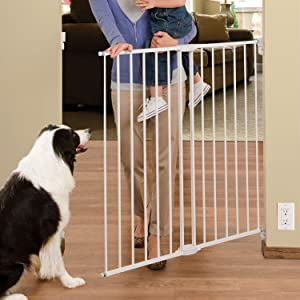 """Extends 33/"""" Munchkin Extending XL Tall and Wide Hardware Baby Gate 56/"""" Wide,"""
