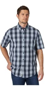 Wrangler Authentics Short Sleeve Plaid Woven Shirt