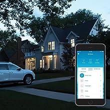 Smart timer, geofencing, smart lighting