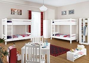 Etagenbett Erwachsene 100x200 : Hochbett fa r erwachsene tomish aus holz wohn design