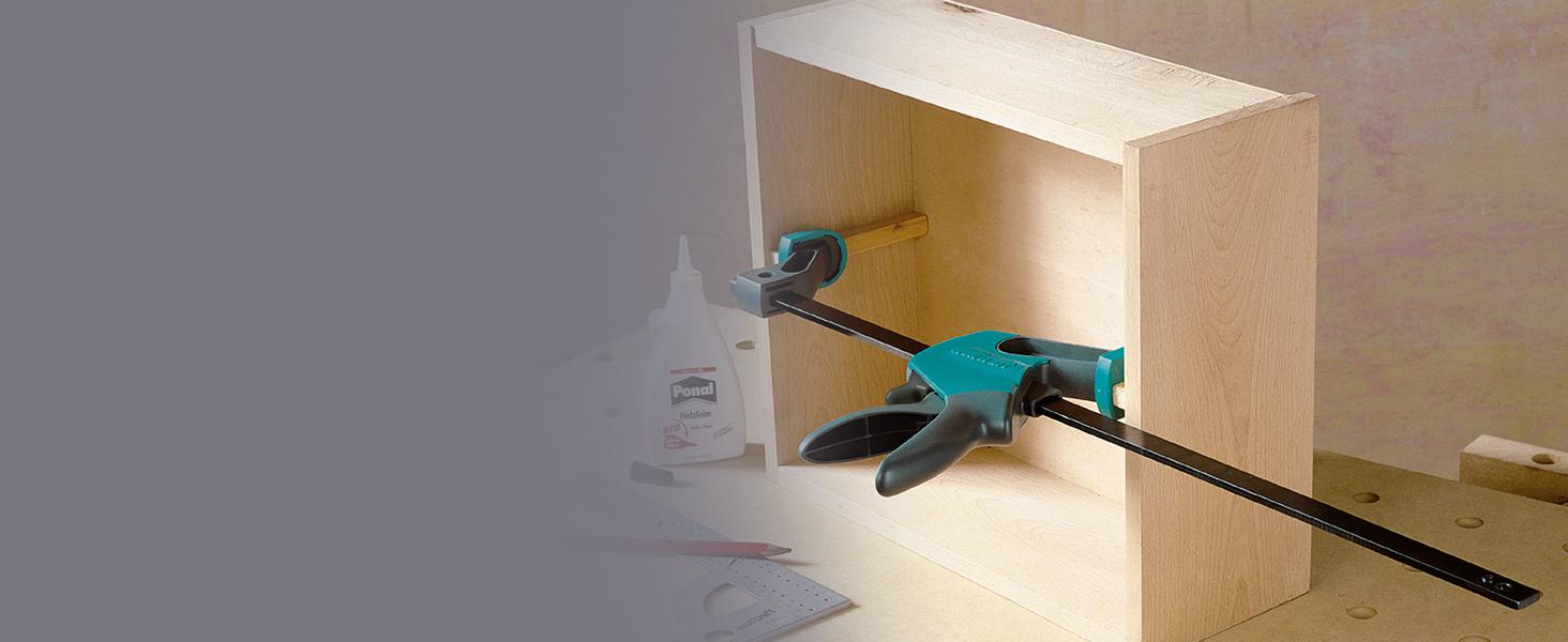 ausladung 500 spannweite leichte bedienung einhändig dehnbereich 180-740 mm einhandzwinge ehz easy