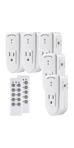 Century Wireless Remote Control Outlet (2 Remotes + 5 Outlets)
