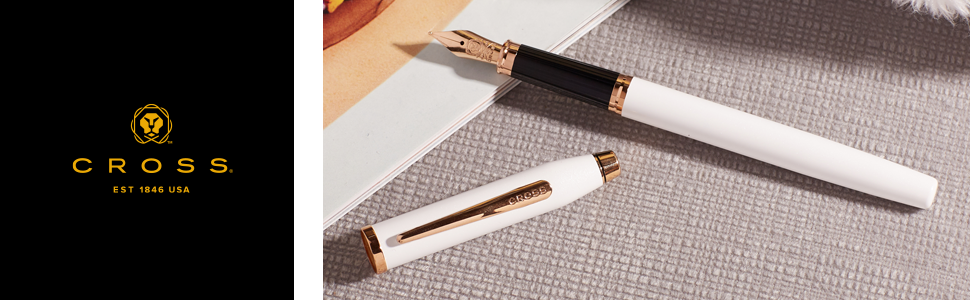 Cross Century II Medalist Chrome Fountain Pen with 23KT Gold-Plated Appointments and 23KT Gold-Plated Fine Nib