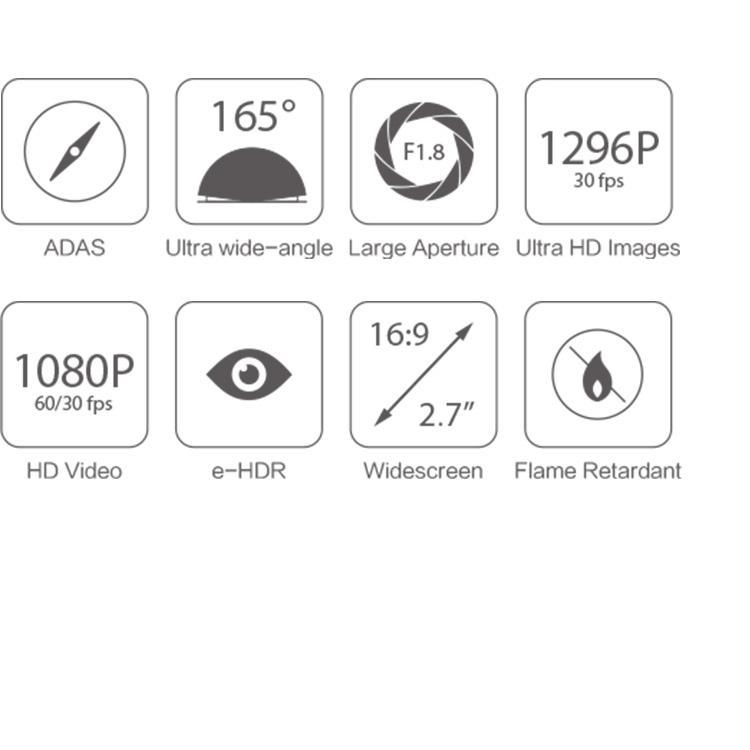 YI Dashcam C10 Full HD 1080p Mit Nachtsicht, WLAN Und