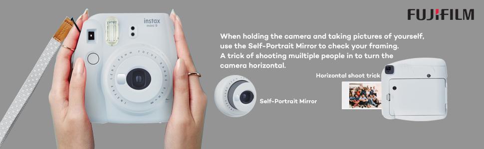 instax mini9 instant camera smoky white