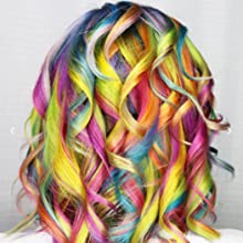 highlight color balayage dye bright colorful hair hairstyle hairdye haircolor