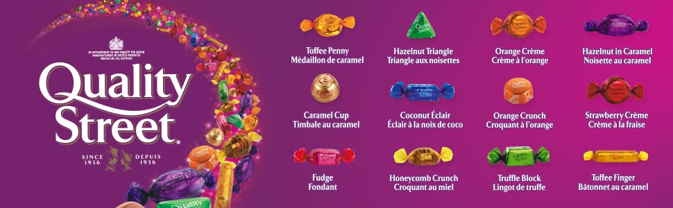Quality Street Imported Caramels Cremes Pralines 180g Tin