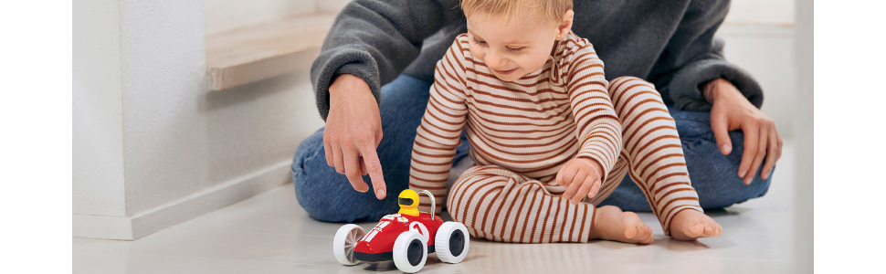 BRIO 30234 Play & Learn Action Racer - A Toddler with the Racer