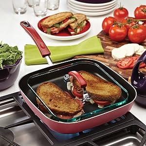 grill pan, panini pan, panini press, rachael ray