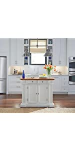Americana Kitchen Island, Antique White Finish · Americana Natural Kitchen  Island · Americana Black Kitchen Island · Kitchen Island, White And  Distressed ...