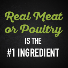 Real meat or poultry is the first ingredient