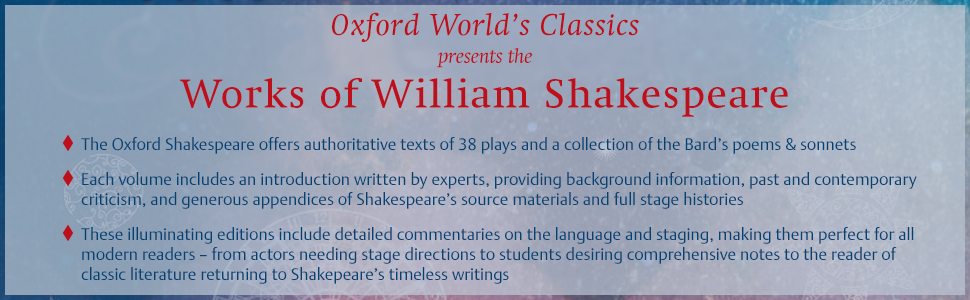 classics, oxford world's classics, william shakespeare