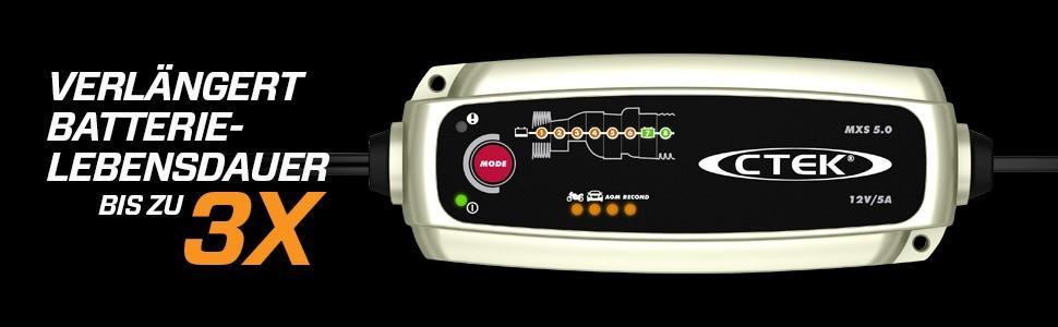 ctek mxs 5.0 batterieladegerät ctek autobatterie ladegeräte ladegerät auto batterieladegerät