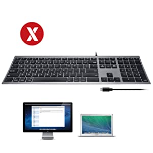 Ultra Slim USB-C Wired Keyboard (Full-Size) for Mac with 5Ft Type-C Cable Apple (Space Gray)
