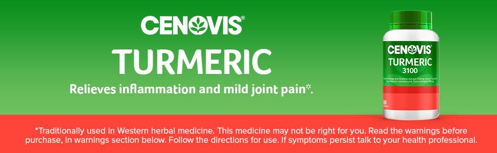 Cenovis; Cenovis Turmeric 3100; Cenovis turmeric capsules; Turmeric supplement; Curcumin supplement