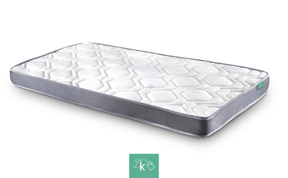Dreaming Kamahaus Colchón Damas | Reversible | Fibras Hipoalerénicas y Soft Foam | Transpirable | ±12 cm altura | 70x180 cm