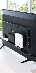 山崎実業 テレビ裏 ラック スマート ワイド60 ブラック 4889