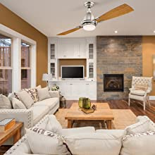 Ceiling fans for rooms with standard 8 ft. ceilings