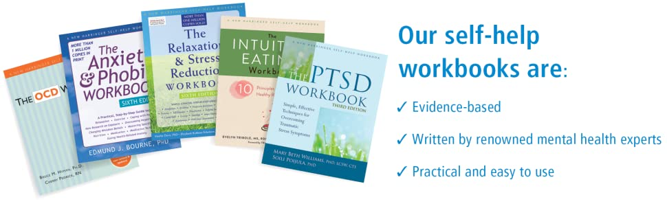 Our self-help workbook are: evidence-based, written by mental health experts, & and are easy to use