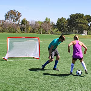 57851221f gosports backyard soccer goal pop up goalie net equipment coach training  mls kids sports futbol fun
