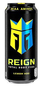 CoQ10 BCAA Zero Sugar Zero Calories workout drink muscle recovery Lemon HDZ crown knight can