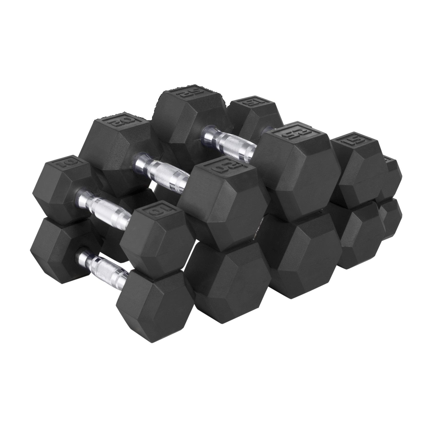 25 Lbs Dumbbell Set: Amazon.com : CAP Barbell 150-lb Rubber Hex Dumbbell Weight