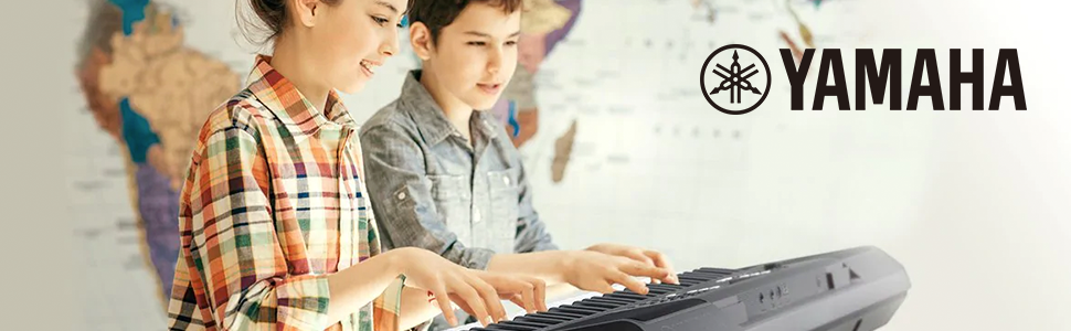 Yamaha PSR-E363 - Teclado digital portátil para principiante con 61 teclas sensibles a la velocidad con múltiples funciones de aprendizaje y Modo Dúo, ...