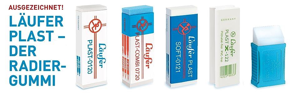 sehr weicher Kunststoff-Radierer,... Läufer 69806 Plast Soft 0121 Radiergummi