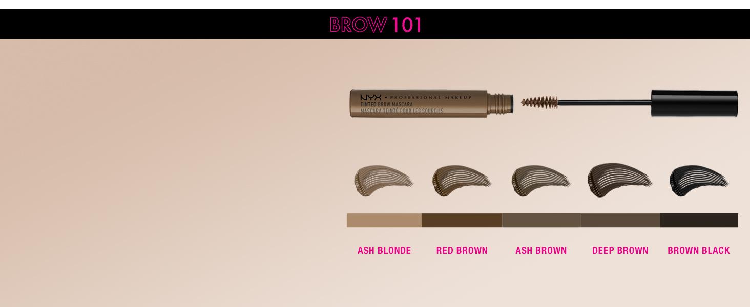 nyx tinted brow mascara eyebrow gel