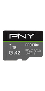 1TB PRO Elite Class 10 U3 V30 microSDXC Flash Memory Card