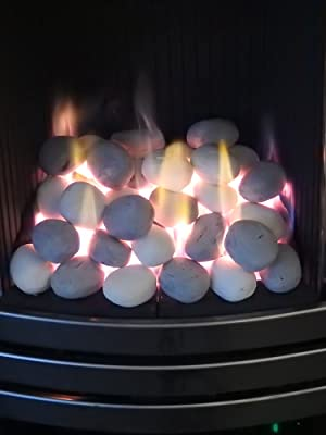 gas fire replacement pebbles coals