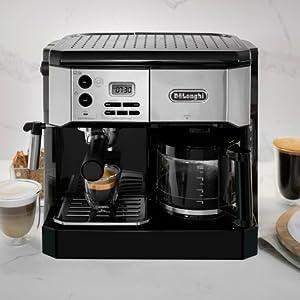 DeLonghi BCO430BM Combination Pump Espresso and 10c Drip Coffee Machine with Advanced Cappuccino System