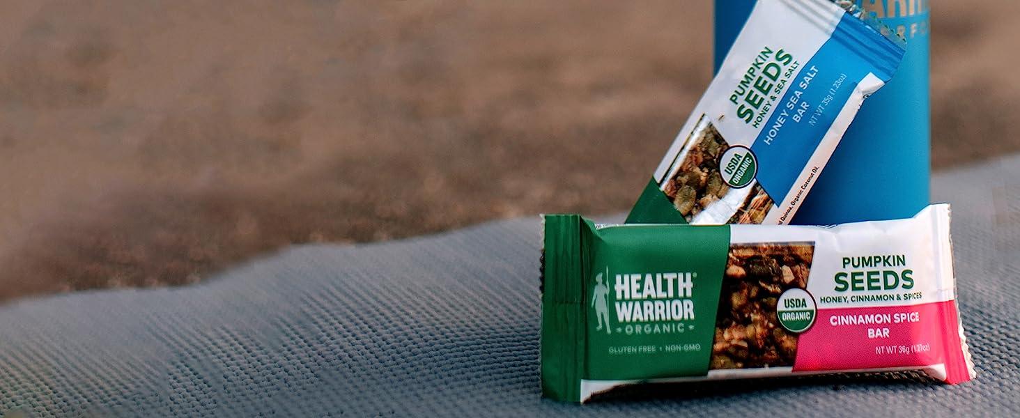 health warrior organic pumpkin seed bars