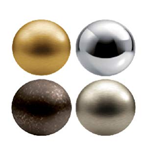 gold, nickel, bronze, chrome