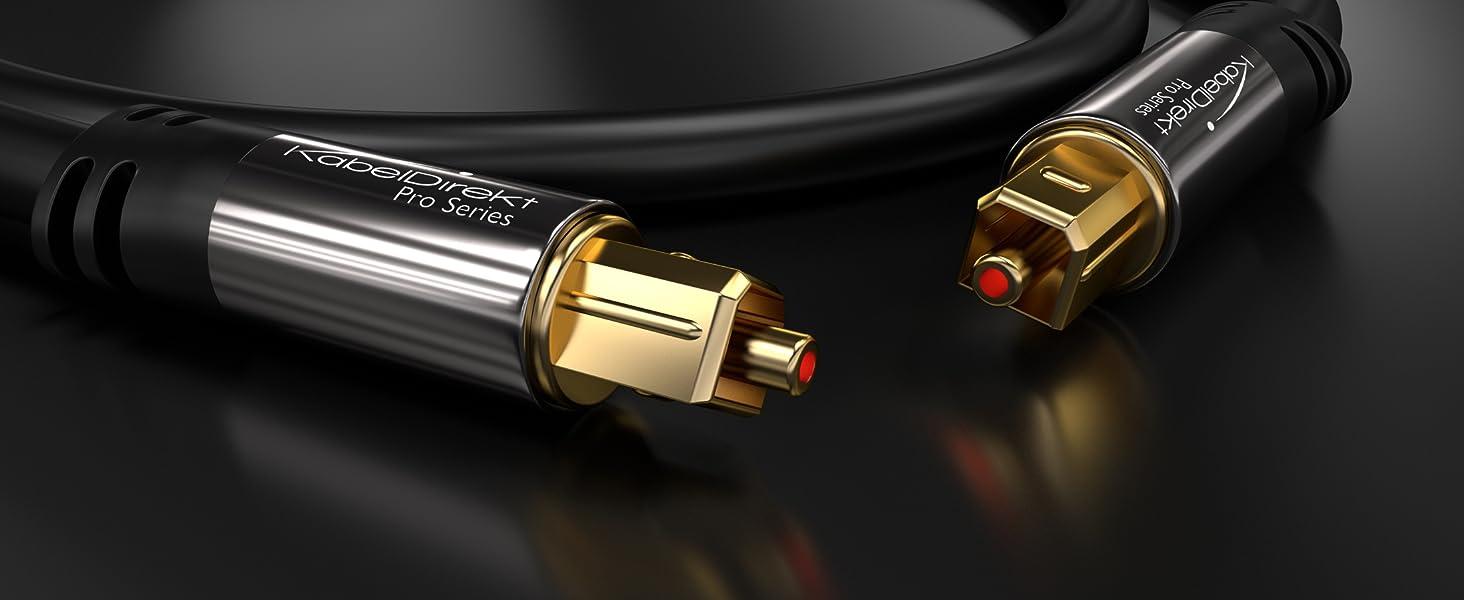 Kabeldirekt Optisches Digitalkabel Toslink 3m Elektronik Fuse Xbox 360 Amazon Kabel Audiokabel Optisch