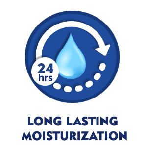 The formula enriched with natural oils gives you moisturized skin for up to 24 hours
