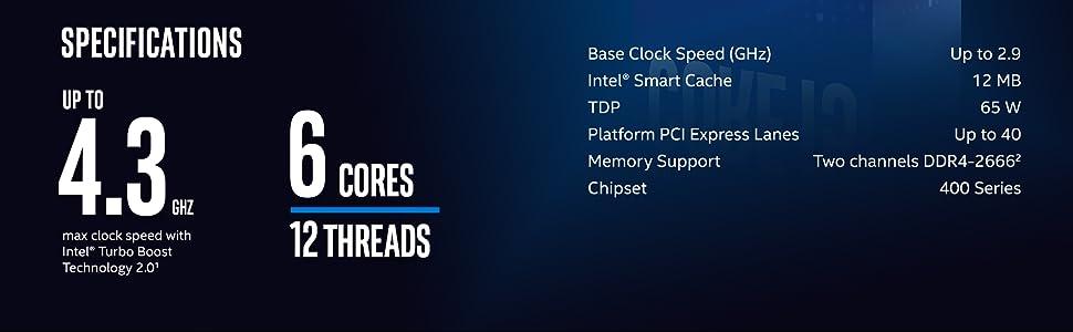 10th Gen Intel Core i4-10400 Desktop Processor