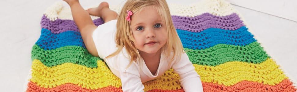 Baby Blanket Knit with Bernat Softee Chunky