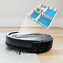 RV1001AE, Shark, Robot, Vacuum, Auto-Empty, Knows Where to go