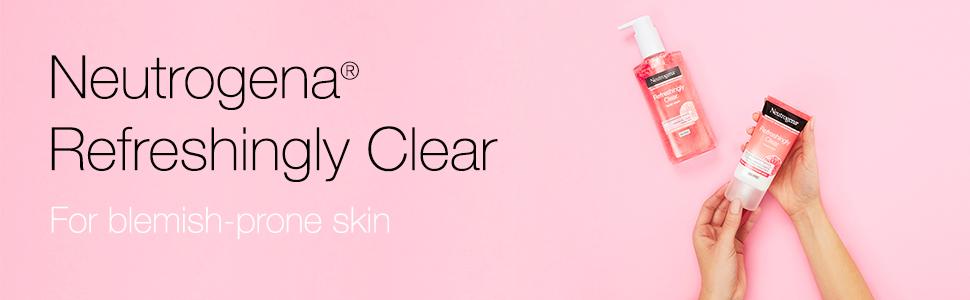 neutrogena, roze, grapefruit, onzuiverheid gevoelig, huid, grapefruit, vlekken, verfrissend helder, verfrissen