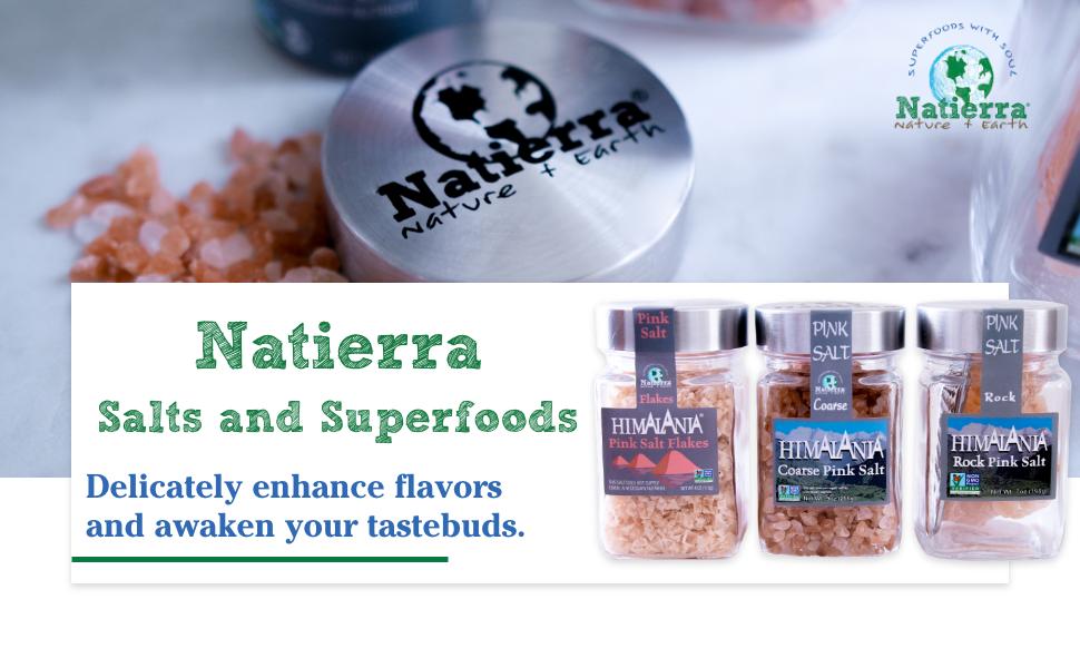 natierra, superfoods, salt, organic