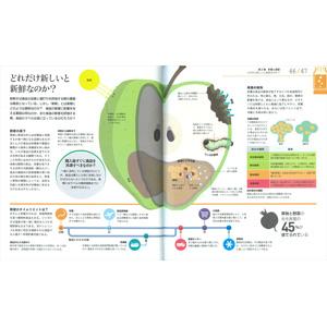 ひと目でわかる食べ物のしくみとはたらき図鑑  たべもの 栄養素 栄養学 料理 図鑑 食育 栄養学 食材 腸 食品 調理 からだ